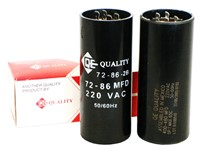 QE START CAPACITORS (220-250 VOLTS)